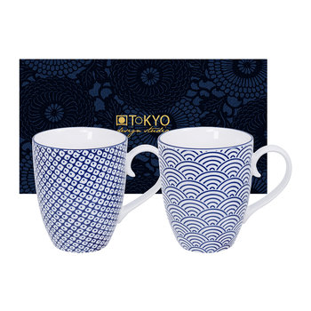 Nippon Blue Mug Set - Set of 2 - Wave/Raindrop