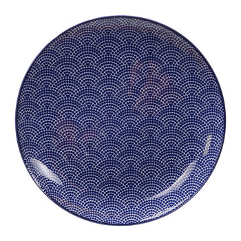 Nippon Blue Dinner Plate - Dots