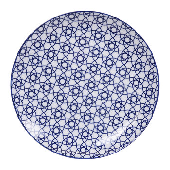 Nippon Blue Dinner Plate - Stripe