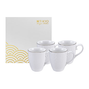 Nippon White Mug Set - Set of 4