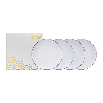 Nippon White Side Plate Set - Set of 4