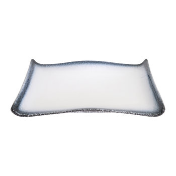 Tajimi Rectangular Plate - Blue/White