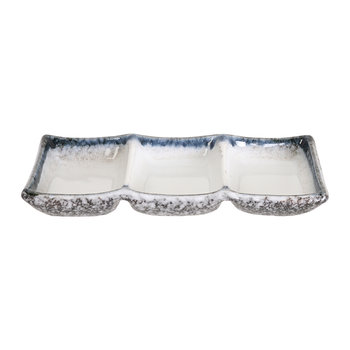 Tajimi Sauce Dish - Set of 3 - Blue/White