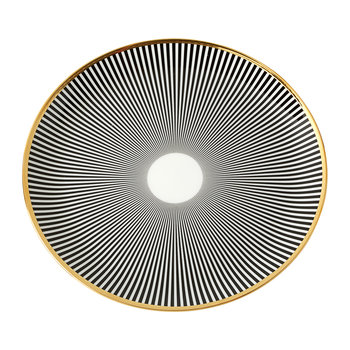 Luster Black Stripe Dinner Plate