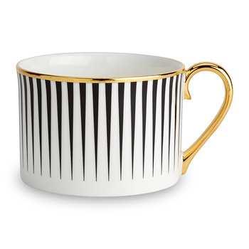 Lustre Black Stripe Coffee Cup
