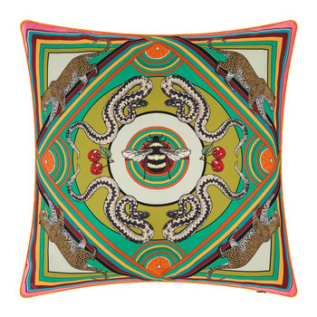 Trippy Town Cushion - 45x45cm - Green