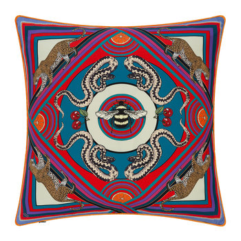 Trippy Town Cushion - 45x45cm - Blue