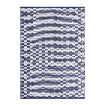 Diamond 100% Recycled Rug - Navy