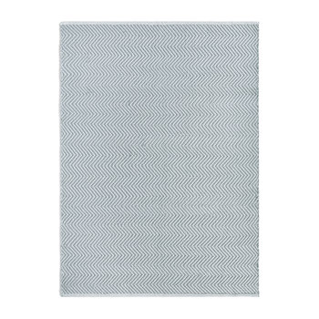 Herringbone 100% Recycled Rug - Sky Grey