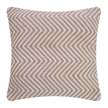 Herringbone 100% Recycled Pillow - 45x45cm - Rose