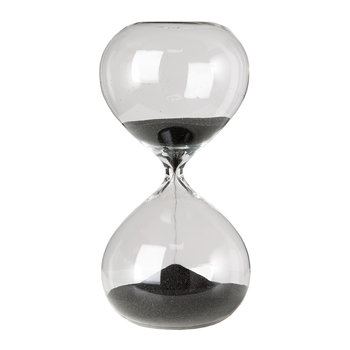 Hourglass Ball - Black - 30 Minutes - Small