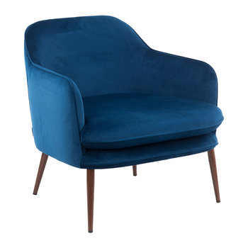Fauteuil Velours Charmy - Bleu
