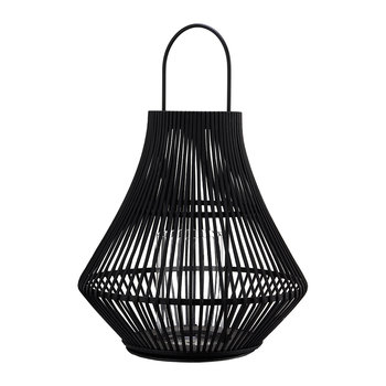 Pear Striped Lantern - Black