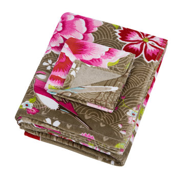Birds in Paradise Towel - Khaki