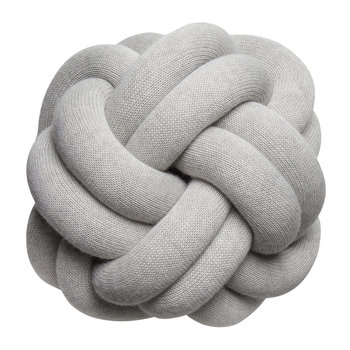 Knot Cushion - 30x30cm - White Grey