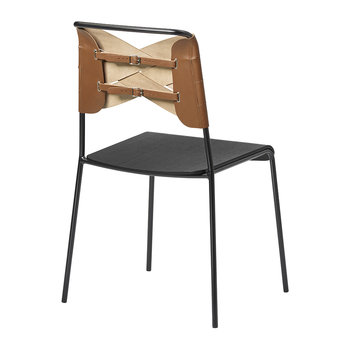 Torso Chair - Black/Cognac