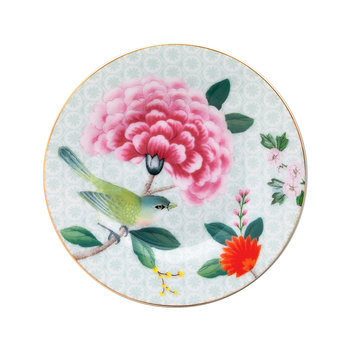 Blushing Birds Petit Four Plate - White