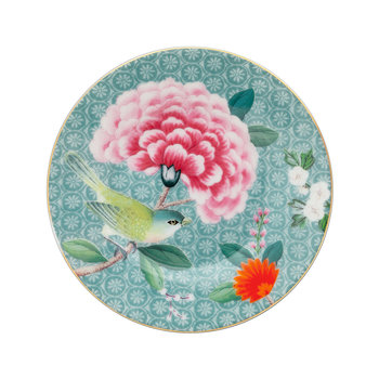 Blushing Birds Petit Four Plate - Blue