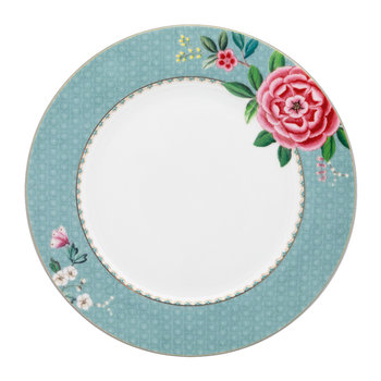 Blushing Birds Dinner Plate - Blue