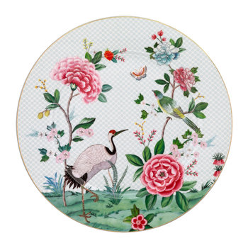 Blushing Birds Serving Plate - White