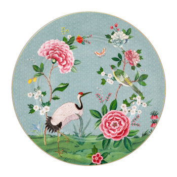 Blushing Birds Serving Plate - Blue