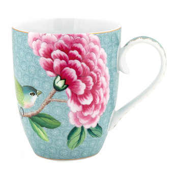 Blushing Birds Mug - Blue - Large