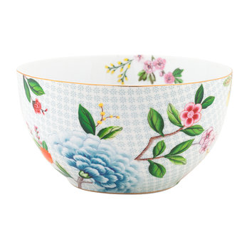 Blushing Birds Cereal Bowl - 15cm - White