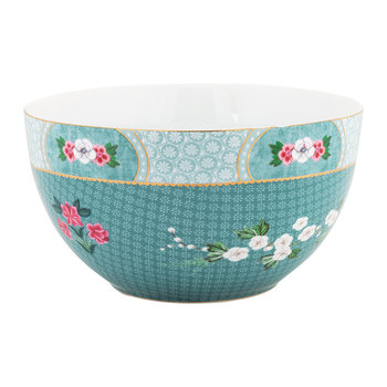 Blushing Birds Cereal Bowl - 18cm - Blue