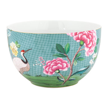 Blushing Birds Serving Bowl - Blue