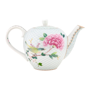 Blushing Birds Teapot - White