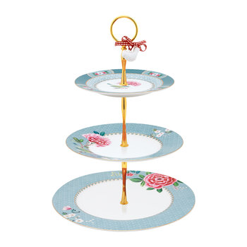 Blushing Birds 3 Tier Cake Stand