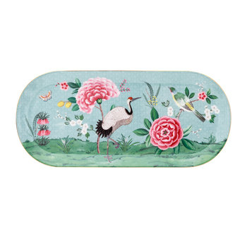 Blushing Birds Rectangle Cake Tray - Blue