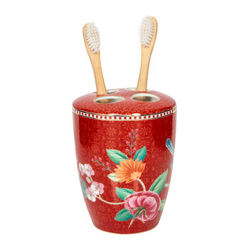 Good Morning Toothbrush Holder - Red