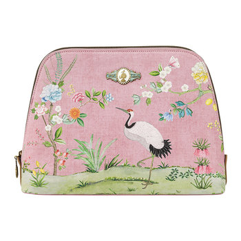 Good Morning Triangle Cosmetic Bag - Pink