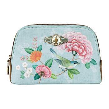 Good Morning Triangle Cosmetic Bag - Blue