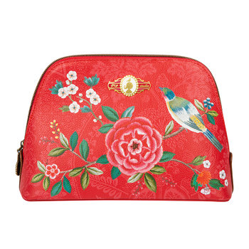 Good Morning Triangle Cosmetic Bag - Red