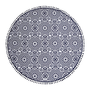 Azule Round Beach Towel