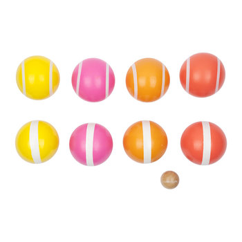 Malibu Bocce Set - Pink/Orange