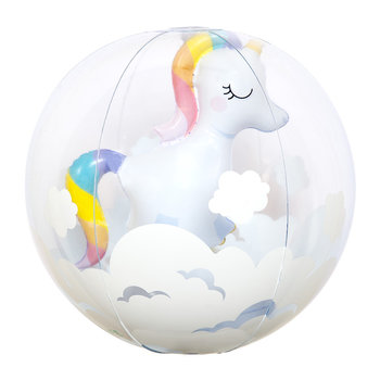 Inflatable 3D Unicorn Beach Ball