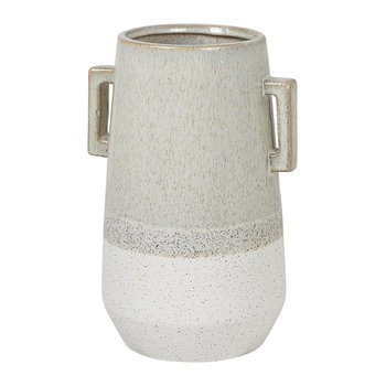 'Handle' Stoneware Vase - White