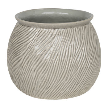 Sandy Stoneware Flowerpot - Rainy Day