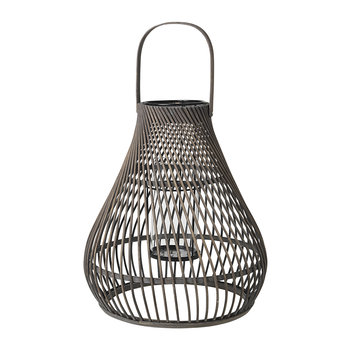 Twist Bamboo Lantern - Dark Grey