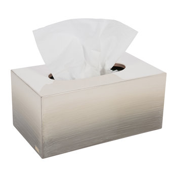 Omber Long Tissue Box - Natural Gold