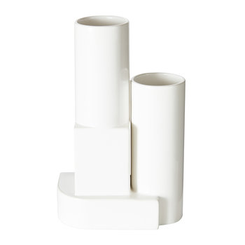 Block Vessel - White Gloss