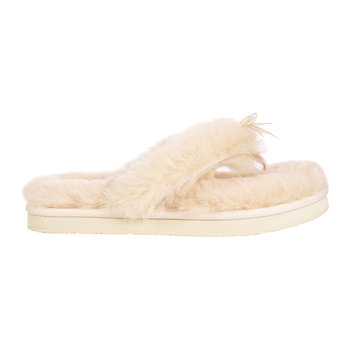 Women's Fluff Flip Flop III Slippers - Natural