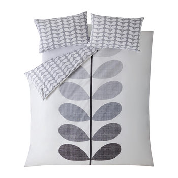 Placement Scribble Stem Duvet Cover - Pebble