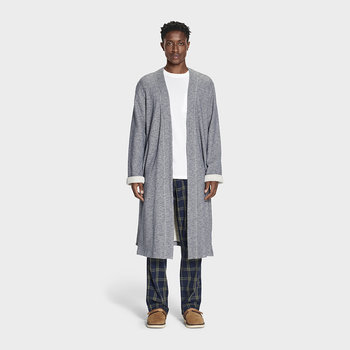 Men's Kent Bathrobe - Navy Heather