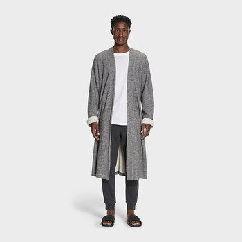 Men's Kent Bathrobe - Black Heather