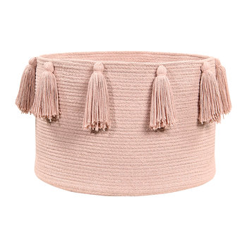 Tassels Cotton Basket - Vintage Nude