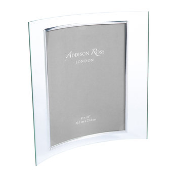 "Curved Glass Photo Frame - 8x10"" - Portrait"